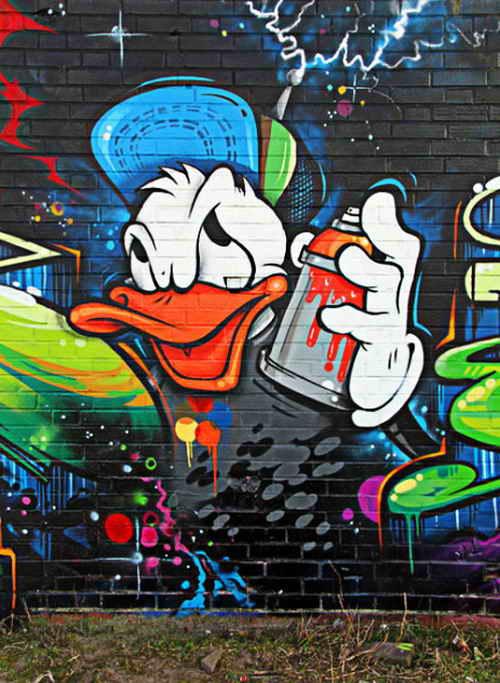 Graffiti,Cartoon,Characters,Donald,Duck