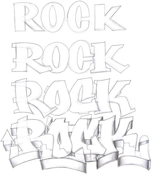 Aprende a hacer letras de graffiti (II)
