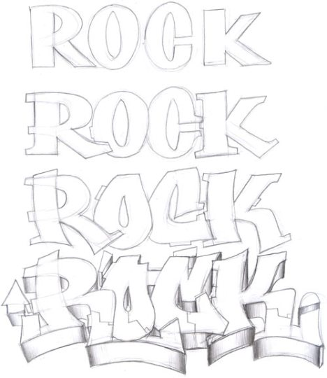 Como Hacer Letras de Graffitis | Letras de Graffitis
