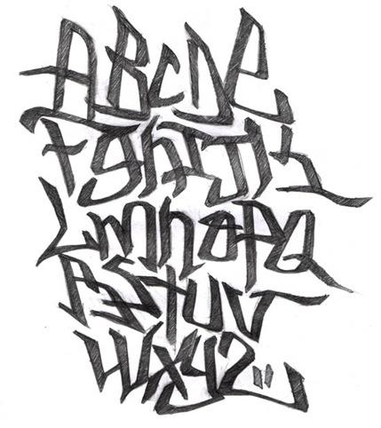 Tipos de letras de graffiti (X):