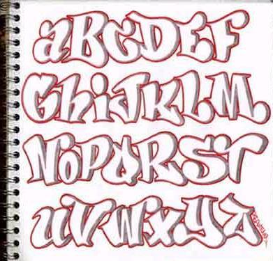 letras graffiti para word: