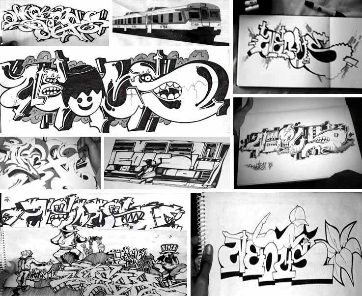 abecedario de letras para grafit