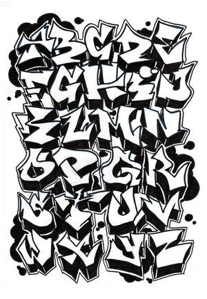Tipos de letras de graffiti (XVIII)