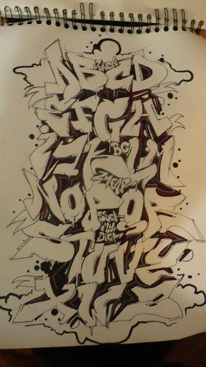 Tipos de letras de graffiti xix c mo ser madre de un for Murales de fotos para pared